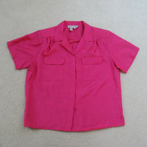 Laura And Jayne Petites Pink Button Down Shirt 14